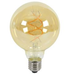 Lyyt 5W ES/E27 G95 LED Spiral Filament Dimmable Lamp