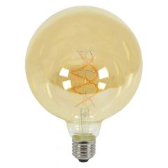 Lyyt 5W ES/E27 G125 LED Spiral Filament Dimmable Lamp