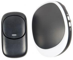 Mercury Wireless Plug-in Doorbell with LED Alert Black