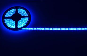 Lyyt IP65 DIY LED Tape 5m Single Colour Blue with Mains Power Adaptor