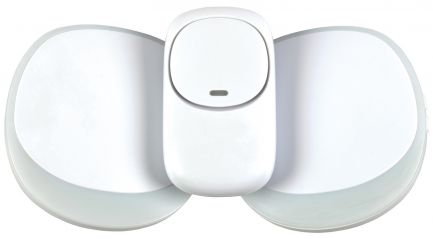 Mercury Wireless Twin Plug-in Doorbell with LED Alert White