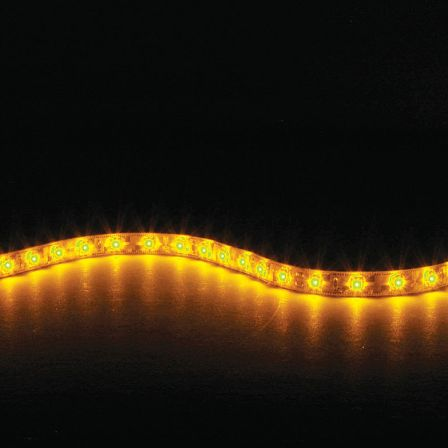 Lyyt IP65 DIY LED Tape 5m Single Colour Amber with Mains Power Adaptor