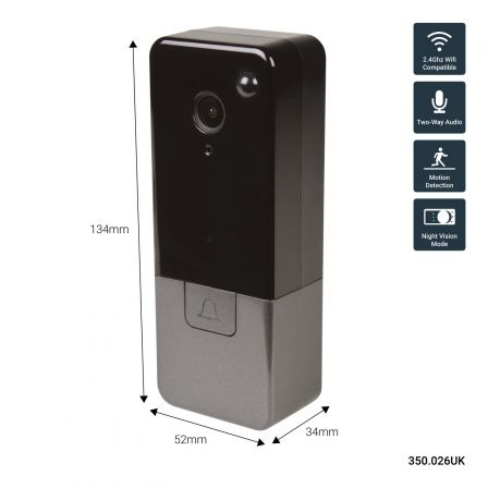 Mercury Smart Wi-Fi HD Video Doorbell