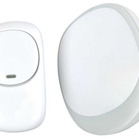Mercury Wireless Plug-in Doorbell with LED Alert White