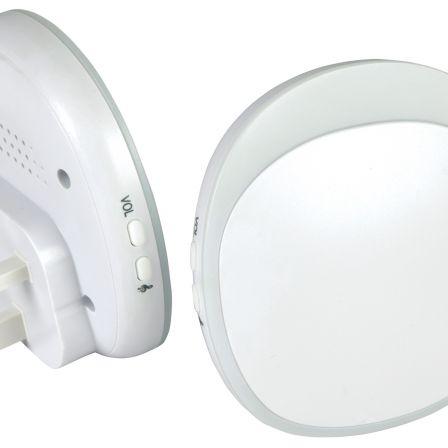 Mercury Wireless Twin Plug-in Doorbell with LED Alert White
