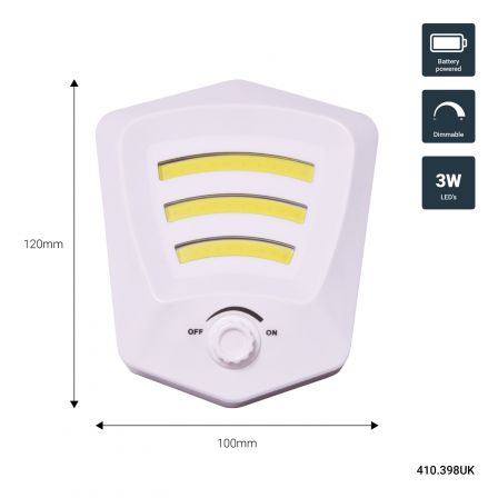 Lyyt LED Portable Dimmable LED Switch Light White
