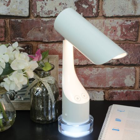 Lyyt Rechargeable LED Desk Lamp with Colourful Night Light Base