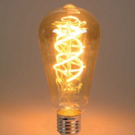 Lyyt 5W ES/E27 ST64 LED Spiral Filament Antique Dimmable Lamp