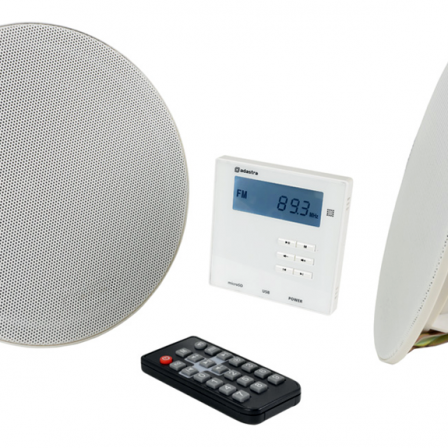 AVSL Bluetooth Ceiling Speaker Set with In-Wall Bluetooth Amplifier