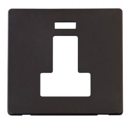Scolmore Click Definity SCP252BK Switched Connection Unit With Neon Cover Plate Black