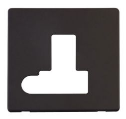 Scolmore Click Definity SCP151BK Switched Connection Unit With Flex Outlet Cover Plate Black