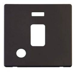 Scolmore Click Definity SCP323BK 20A DP Switch With Flex Outlet & Neon Cover Plate Black