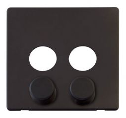 Scolmore Click Definity SCP242BK 2 Gang Dimmer Switch Cover Plate Black