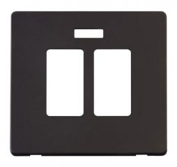 Scolmore Click Definity SCP324BK 20A Sink & Bath Switch With Neon Cover Plate Black