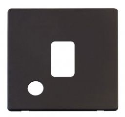 Scolmore Click Definity SCP322BK 20A DP Switch With Flex Outlet Cover Plate Black