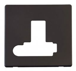 Scolmore Click Definity SCP351BK Switched Conn. Unit With Flex Outlet (Lockable) Cover Plate Black