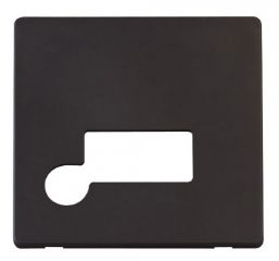 Scolmore Click Definity SCP150BK Connection Unit With Flex Outlet Cover Plate Black