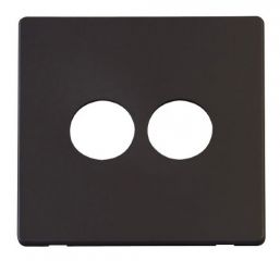 Scolmore Click Definity SCP222BK 2 Gang Toggle Switch Cover Plate Black
