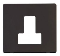 Scolmore Click Definity SCP251BK Switched Connection Unit Cover Plate Black
