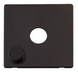 Scolmore Click Definity SCP241BK 1 Gang Dimmer Switch Cover Plate Black