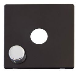 Scolmore Click Definity SCP241BKCH 1 Gang Dimmer Switch Cover Plate Black with Chrome Knobs