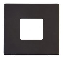 Scolmore Click Definity SCP402BK 1 Gang Twin Aperture Cover Plate Black