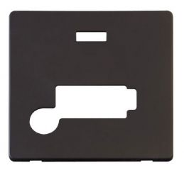 Scolmore Click Definity SCP353BK Conn. Unit With Flex Outlet & Neon (Lockable) Cover Plate Black