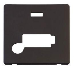 Scolmore Click Definity SCP353BK Conn. Unit With Flex Outlet & Neon (Lockable) Cover Plate Black
