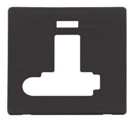 Scolmore Click Definity SCP352BK Switched Conn. Unit With F/O & Neon (Lockable) Cover Plate Black