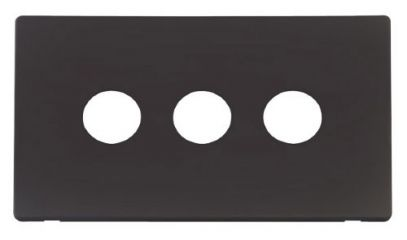 Scolmore Click Definity SCP223BK 3 Gang Toggle Switch Cover Plate Black