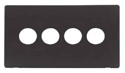 Scolmore Click Definity SCP224BK 4 Gang Toggle Switch Cover Plate Black