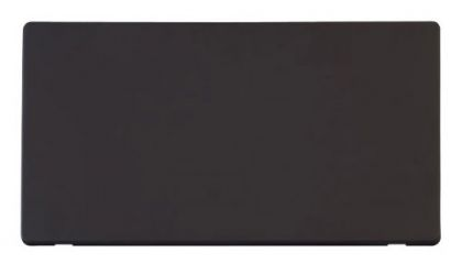 Scolmore Click Definity SCP061BK 2 Gang Blank Plate Cover Plate Black