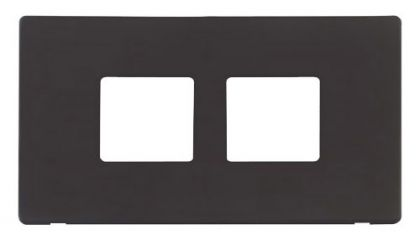 Scolmore Click Definity SCP404BK 2 Gang (2 x 2) Aperture Cover Plate Black