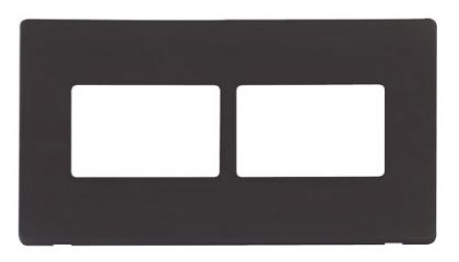 Scolmore Click Definity SCP406BK 2 Gang (2 x 3) Aperture Cover Plate Black