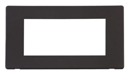 Scolmore Click Definity SCP312BK 2 Gang Plate Quad Media Module Cover Plate Black