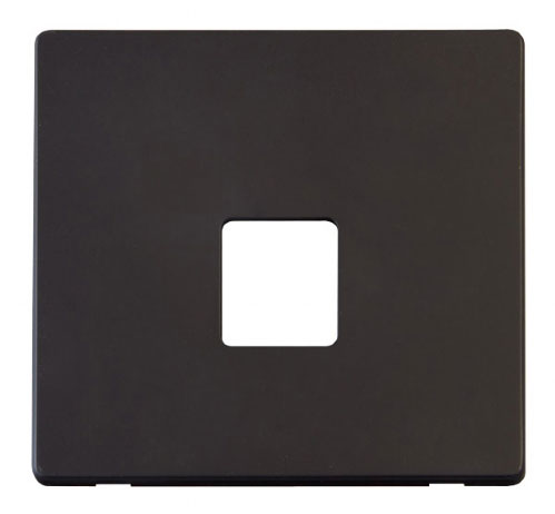 Scolmore Click Definity Black Data Socket Cover Plates
