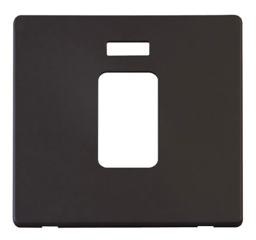 Scolmore Click Definity Black Control Switches Cover Plates