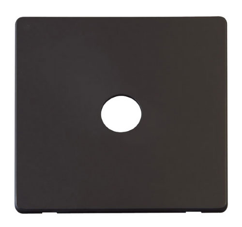 Scolmore Click Definity Black Media Socket Cover Plates