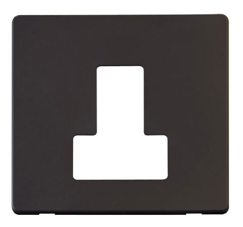 Scolmore Click Definity Black Connection Unit Cover Plates