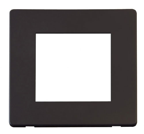 Scolmore Click Definity Black New Media Cover Plates