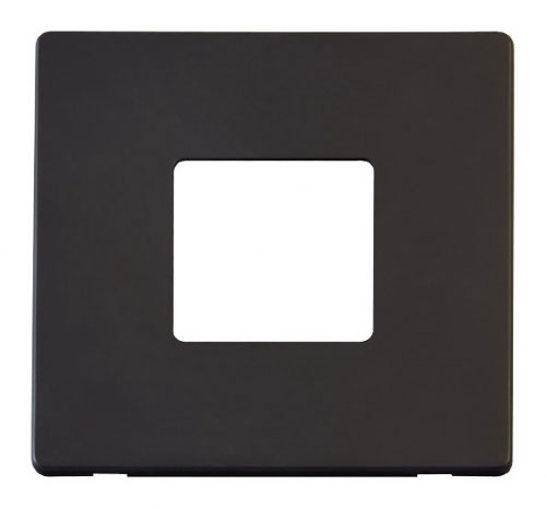 Scolmore Click Definity Black Switches Cover Plates