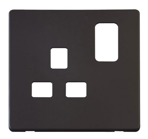 Scolmore Click Definity Black Socket Outlet Cover Plates