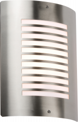 Knightsbridge NH028 Stainless Steel Wall Light with Opal Diffuser