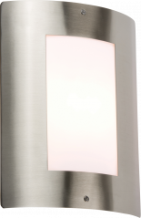 Knightsbridge NH027 Stainless Steel Wall Light with Opal Diffuser