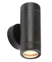 Knightsbridge WALL2LBK Lightweight IP65 Black Up/Down Wall Light
