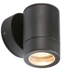 Knightsbridge WALL1LBK Lightweight IP65 Black Fixed Wall Light