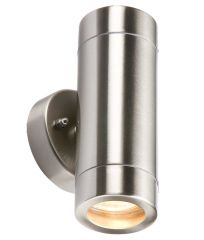 Knightsbridge WALL2L Lightweight IP65 Stainless Steel Up/Down Wall Light