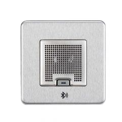 Knightsbridge SFBLUEBC 3W RMS Bluetooth Speaker Outlet Brushed Chrome