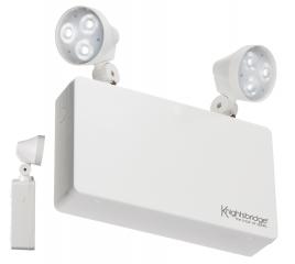 Knightsbridge EMTWINPC 230V 6W LED Twin Spot Emergency Light