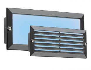 Knightsbridge BLED5BB 5 Watt LED Black IP54 Bricklight with Plain and Grill Cover